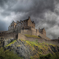 Buy canvas prints of Edinburgh Castle Scotland by Finan Fine Art Prints