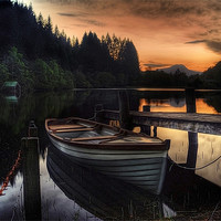 Buy canvas prints of Golden Sunset over Loch Ard by Finan Fine Art Prints