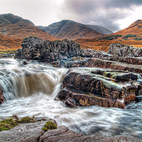 Buy canvas prints of Waterfall On The River Etive by Finan Fine Art Prints