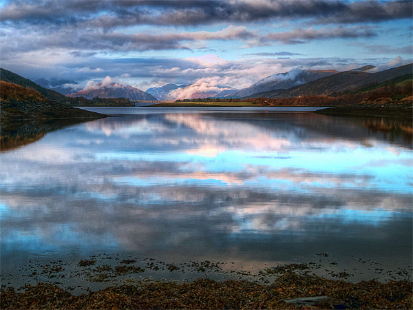 Morning Reflections On Loch Leven Canvas print by Finan Fine Art Prints