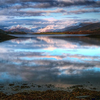 Buy canvas prints of Morning Reflections On Loch Leven by Finan Fine Art Prints