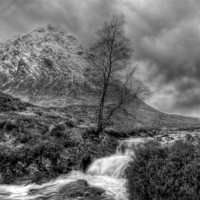 Buy canvas prints of The Buachaille Etive Mor Scotland by Finan Fine Art Prints