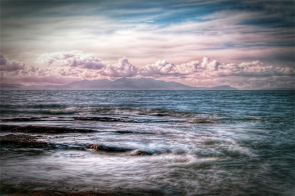 The Tide At Troon Canvas print by Finan Fine Art Prints