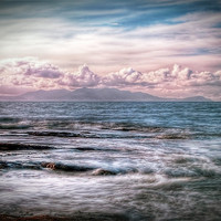 Buy canvas prints of The Tide At Troon by Finan Fine Art Prints