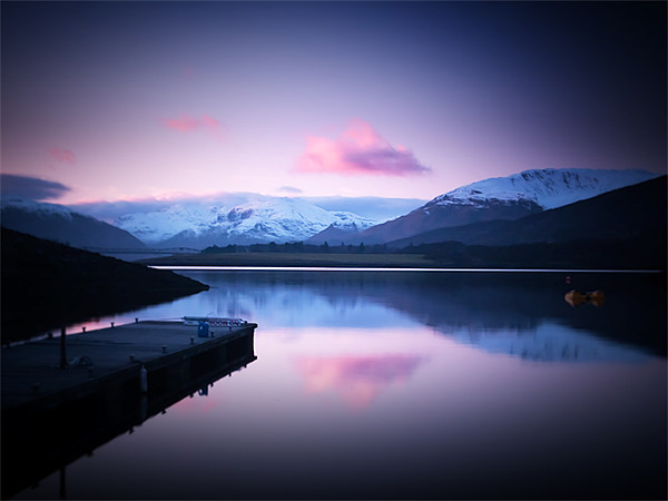 Dusk On Loch Leven Canvas print by Finan Fine Art Prints