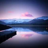 Buy canvas prints of Dusk On Loch Leven by Finan Fine Art Prints