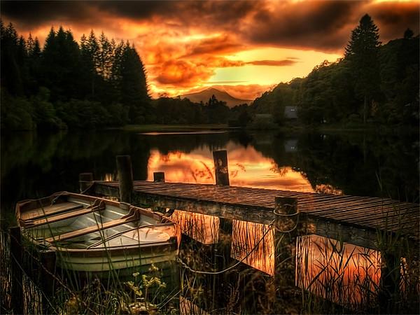 Loch Ard, Scotland Canvas print by Finan Fine Art Prints