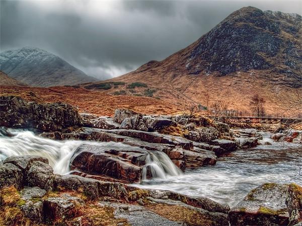The River Etive Scotland Canvas print by Finan Fine Art Prints