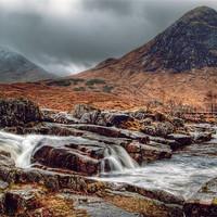 Buy canvas prints of The River Etive Scotland by Finan Fine Art Prints