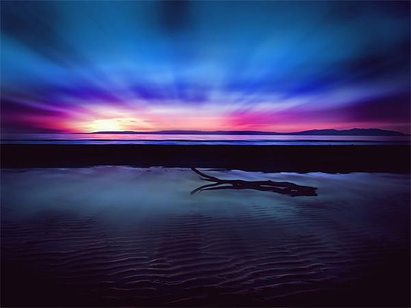 Sunset Over Troon Beach Canvas print by Finan Fine Art Prints