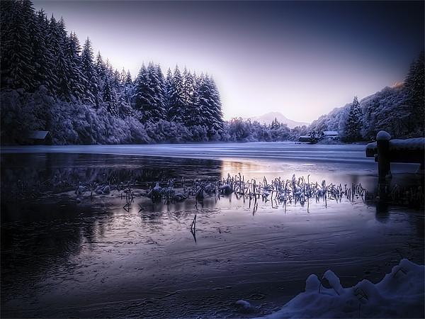 Loch Ard, Frozen In Time. Canvas print by Finan Fine Art Prints