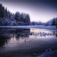 Buy canvas prints of Loch Ard, Frozen In Time. by Finan Fine Art Prints