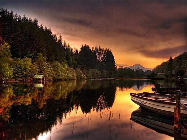Loch Ard Reflections Canvas print by Finan Fine Art Prints