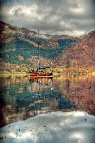 Boat On Loch Leven Canvas print by Finan Fine Art Prints