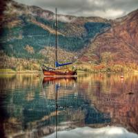Buy canvas prints of Boat On Loch Leven by Finan Fine Art Prints