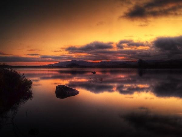 Loch Ba Sunrise Print by Finan Fine Art Prints