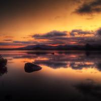 Buy canvas prints of Loch Ba Sunrise by Finan Fine Art Prints
