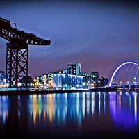 Buy canvas prints of  The Clyde Arc by Finan Fine Art Prints