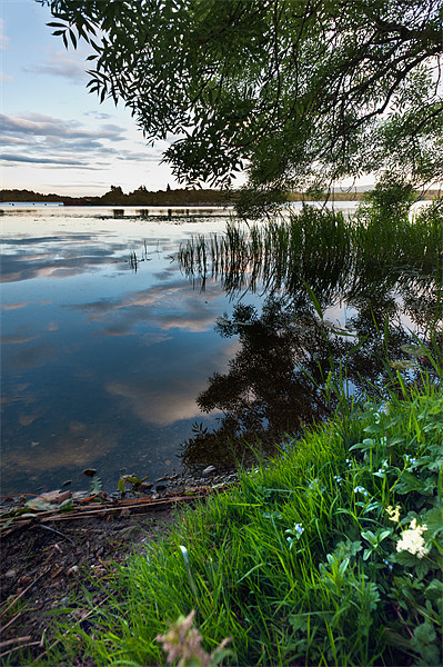 Reflecting over Lake of Menteith Canvas print by Stephen Mole