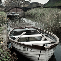 Buy canvas prints of Moored rowing boat by Stephen Mole