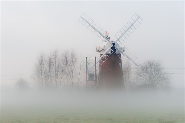 Horsey Mill in the Mist Canvas print by Stephen Mole