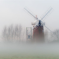 Buy canvas prints of Horsey Mill in the Mist by Stephen Mole