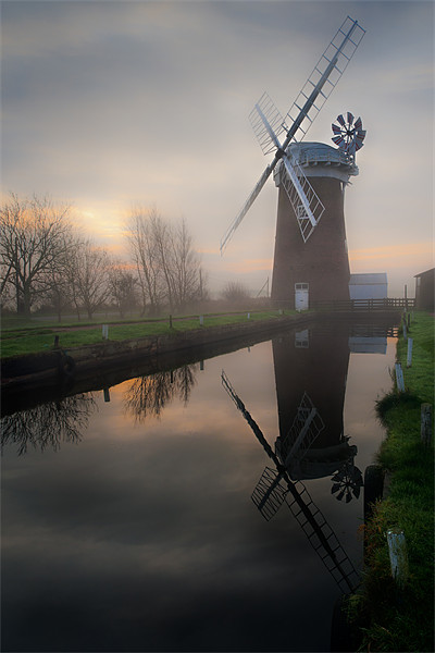 Reflecting on Horsey Mill Canvas print by Stephen Mole