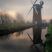 Buy canvas prints of Reflecting on Horsey Mill by Stephen Mole