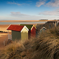 Buy canvas prints of Beach Hut view by Stephen Mole