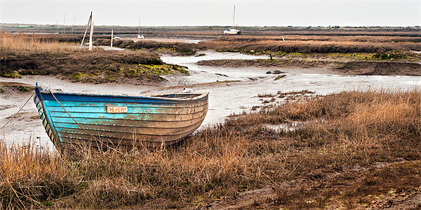 The Ferry at Brancaster Staithe Canvas print by Stephen Mole