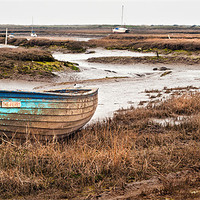Buy canvas prints of The Ferry at Brancaster Staithe by Stephen Mole