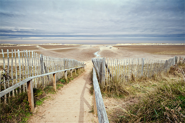 Slope to Holkham Beach Framed Mounted Print by Stephen Mole