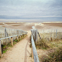 Buy canvas prints of Slope to Holkham Beach by Stephen Mole