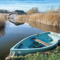 Buy canvas prints of Hickling Boathouse by Stephen Mole