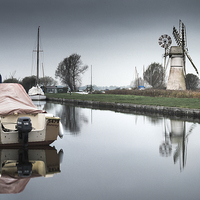 Buy canvas prints of Thurne Staithe by Stephen Mole