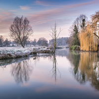 Buy canvas prints of River Bure at Coltishall by Stephen Mole