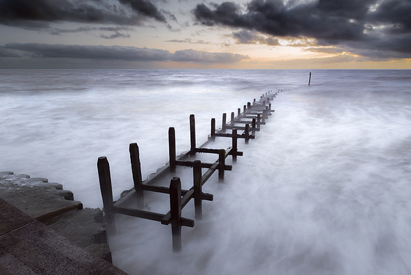 Grey Dawn at Overstrand Canvas print by Stephen Mole