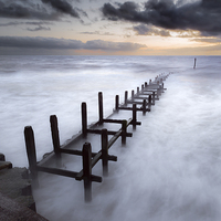 Buy canvas prints of Grey Dawn at Overstrand by Stephen Mole