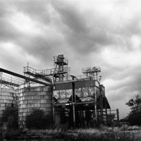 Buy canvas prints of Abandoned factory by Stephen Mole