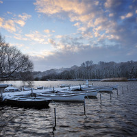 Buy canvas prints of Rowing boats in Snow by Stephen Mole