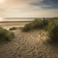 Buy canvas prints of  Winterton Beach  by Stephen Mole