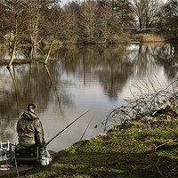 Buy canvas prints of Lone fisherman by Stephen Mole