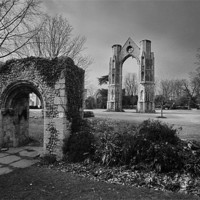 Buy canvas prints of Walsingham Abbey by Stephen Mole