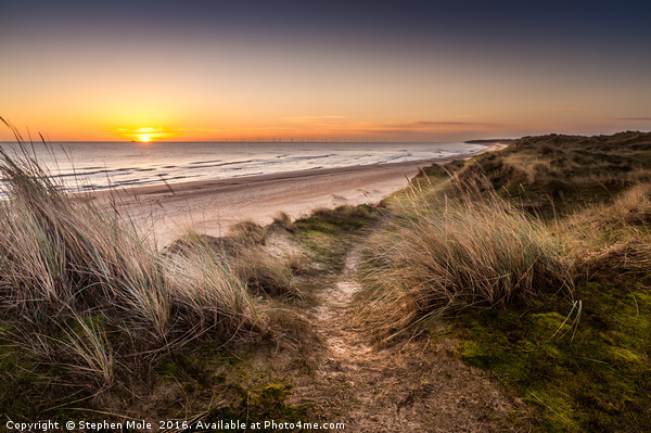 Winterton to Hemsby Canvas Print by Stephen Mole
