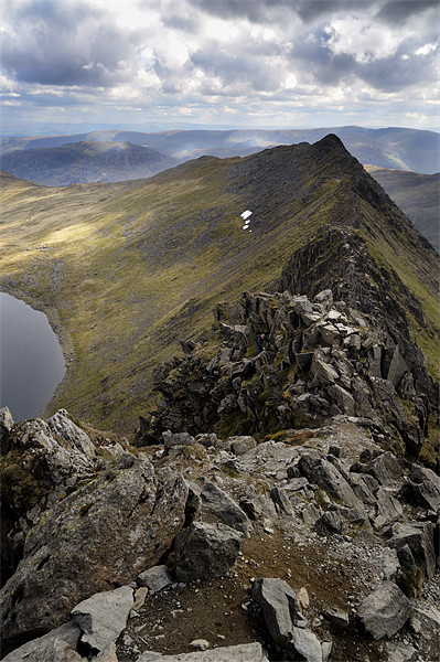 Striding Edge to Helvellyn Canvas print by Stephen Mole