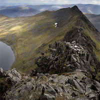 Buy canvas prints of Striding Edge to Helvellyn by Stephen Mole