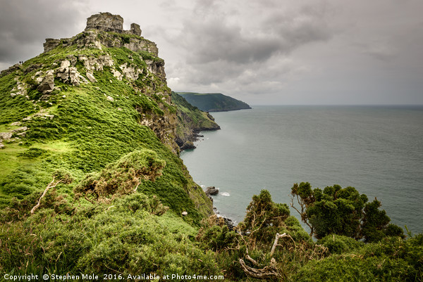 Castle Rock, Valley of the Rocks, Devon Canvas Print by Stephen Mole
