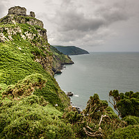Buy canvas prints of Castle Rock, Valley of the Rocks, Devon by Stephen Mole