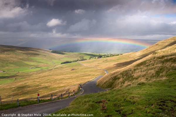Rainbow in the Yorkshire Dales Canvas Print by Stephen Mole