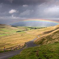 Buy canvas prints of Rainbow in the Yorkshire Dales by Stephen Mole